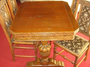 Table Top Dishwasher Redhill : Antique oak draw leaf table & 6 chairs. in Bury St. Edmunds