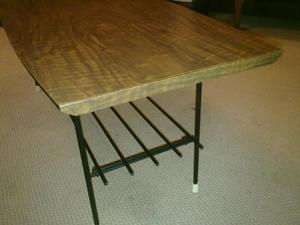 60s Coffee table, rectangular shape, cur