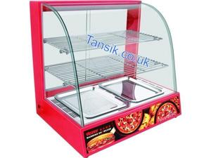 Tansik Tansik New Heated Display Unit -Curved Glass Hot Food Cabinet Warmer