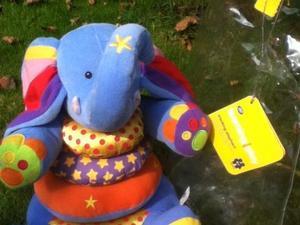Baby toy - Soft Stacking Elephant