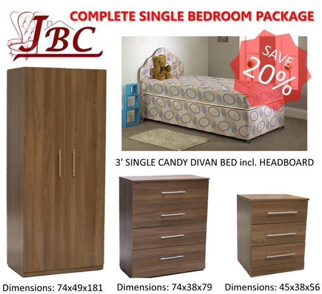 COMPLETE SINGLE BEDROOM FURNITURE PACKAGE SPECIAL OFFER In - Bedroom furniture shops in sheffield