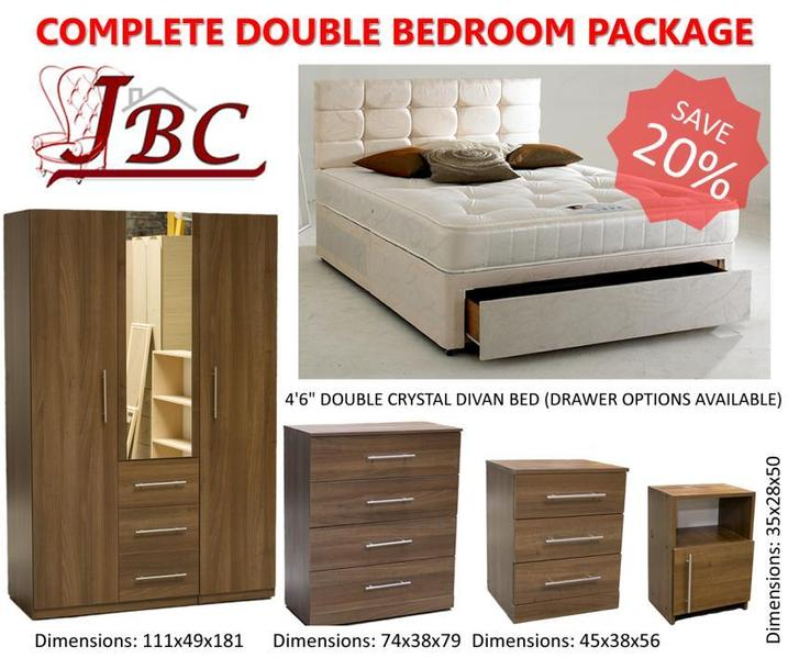 COMPLETE DOUBLE BEDROOM FURNITURE PACKAGE SPECIAL OFFER In - Bedroom furniture shops in sheffield