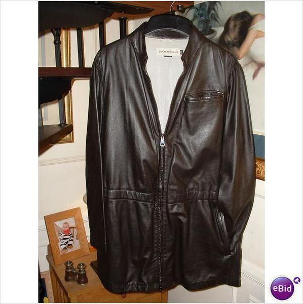 new mens armani emporio leather 34 jacket 48 tren in sevenoaks expired fridayad