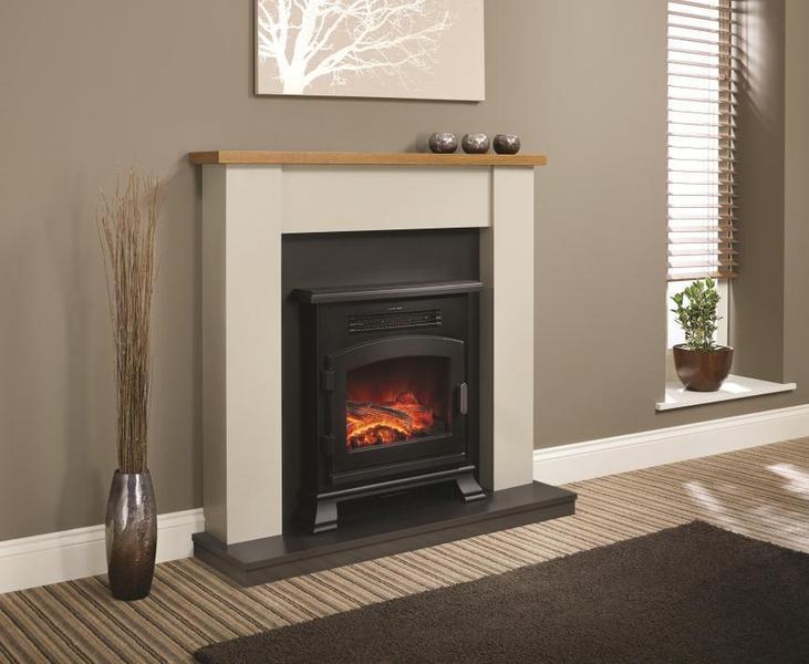 be modern ravensdale electric suite oak shelf inc. Black Bedroom Furniture Sets. Home Design Ideas