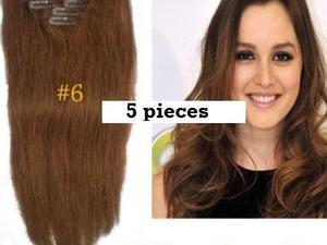 """Remy 18"""" human hair clip extensions"""