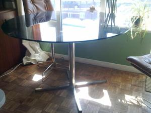 60s Glass round table