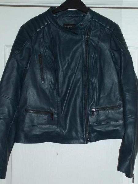 Autograph M&S brand new leather jacket size 14 - Eastbourne
