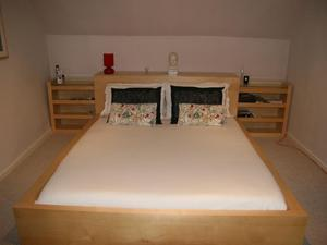 King Size Bed with Memry Foam Mattress & Matching Furniture