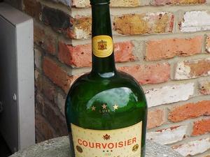 Large Collectors Vintage Courvoisier 3 Star Luxe Cognac Bottle