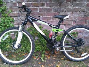 """Boys Carerra Detonate full suspension bike, 24"""" wheel"""