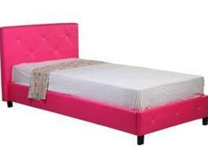 Single Pink Diamante Frame And Mattress In Rotherham