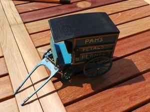 Handmade Wooden Florists Cart