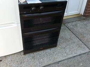 GAS Integrated  double oven 90cm high by Beko