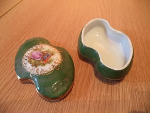 Unusual Shaped French Limoges Porcelain Trinket Box