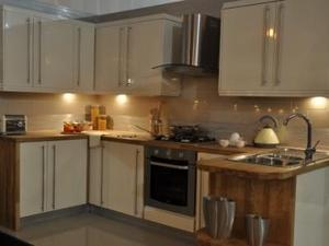 Cream Kitchen With High Gloss Finish On Sale!