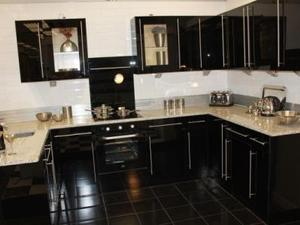 Modern Black Kitchen For Sale