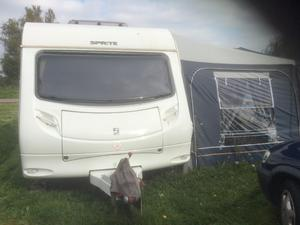 Sprite Alpine 4 berth fixed bed