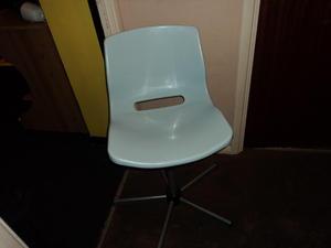 ikea light blue swivel chair