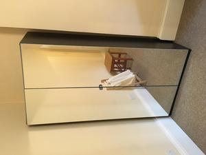 Stylish mirrored wardrobe