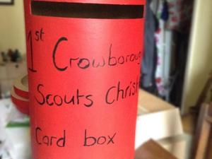 Christmas Card Delivery by Crowborough Scout