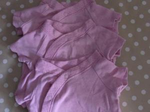 3x F&F baby tops/vests, Pink size Newborn up to 11lbs