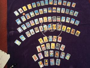 Hand made Fridge magnets of the Rider Waite Smith tarot deck in a miniature size.