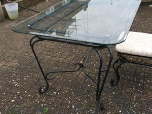 seater dining table metal frame glass top brighton expired