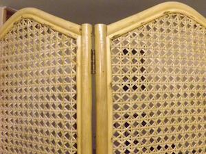 Large bamboo wicker folding screen