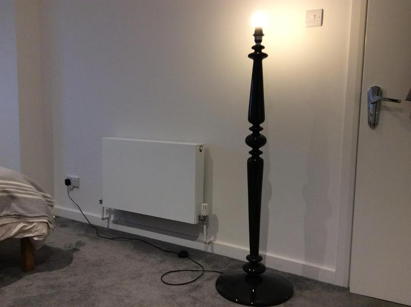Habitat black spindle floor lamp in brighton sold friday ad mozeypictures Image collections