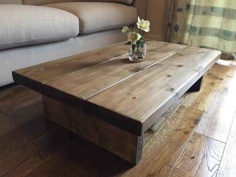 Chunky Rustic Coffee Table Mk1 Oak Stain Solid Wood Hand Made. Handmade Wooden Coffee Tables Uk   Rascalartsnyc