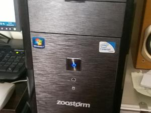 ZOOSTORM 500GB Dual Core Desktop PC Package with Windows 7 Premium, Monitor, Keyboard & Mouse