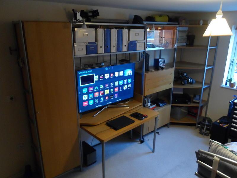 Ikea Journalist Oak Storage Display Units Desk Office Bedroom Living Room Tv Stand In