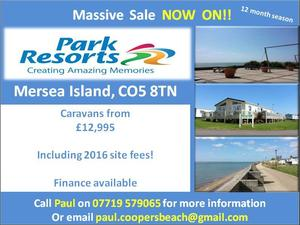 Cheap static caravan for sale near Clacton Essex.