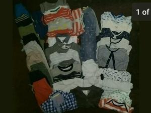 Large bundle of baby boys clothes 9-12 months. 38 items. NEXT, H&M...