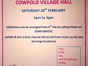 Jumble Sale - Cowfold - 20th Feb - 1pm