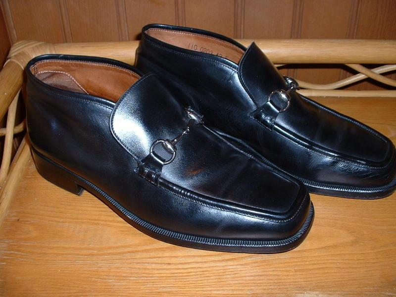 Black leather mens shoes uk