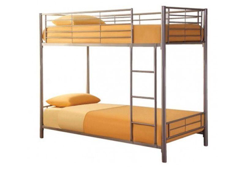 Brand New High Quality Apollo Single Bunk Bed SILVER WHITE Delivery Available