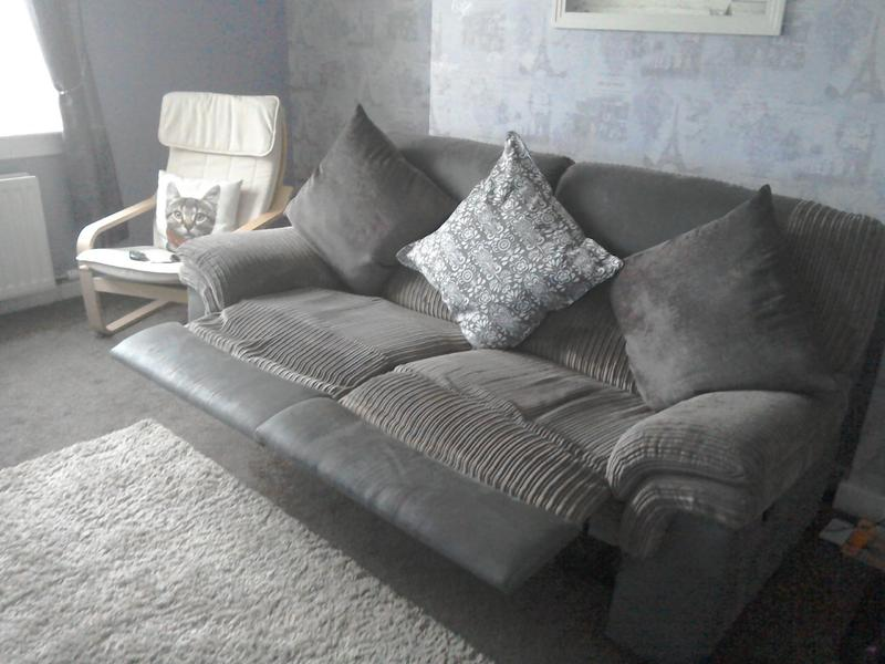 Brown dfs fabric and faux leather recliner sofa for sale in Glasgow - Expired | Friday-Ad & Brown dfs fabric and faux leather recliner sofa for sale in ... islam-shia.org