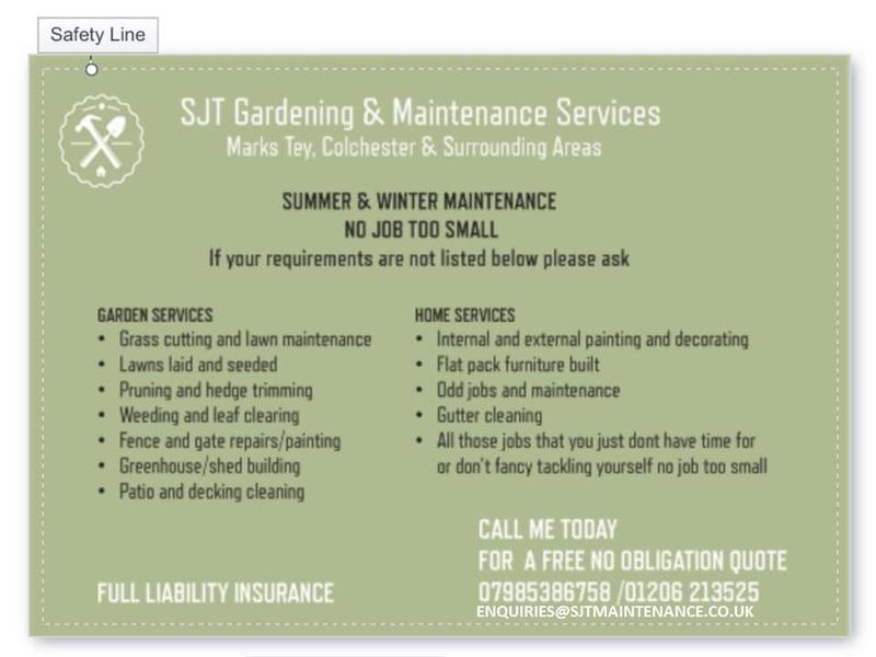 Sjt garden and home maintenance services colchester for House and garden maintenance services