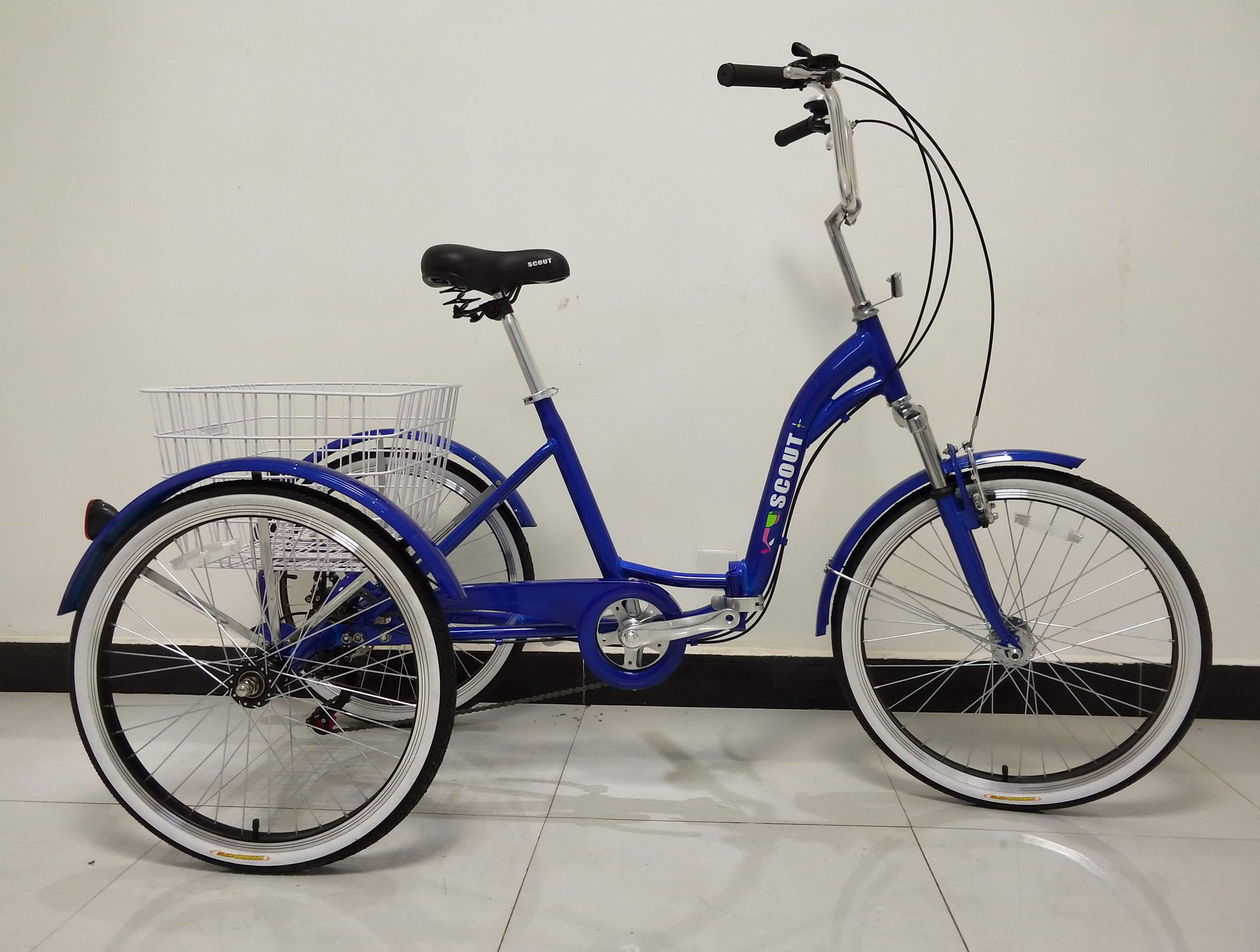 5 speed adult foldable tricycle