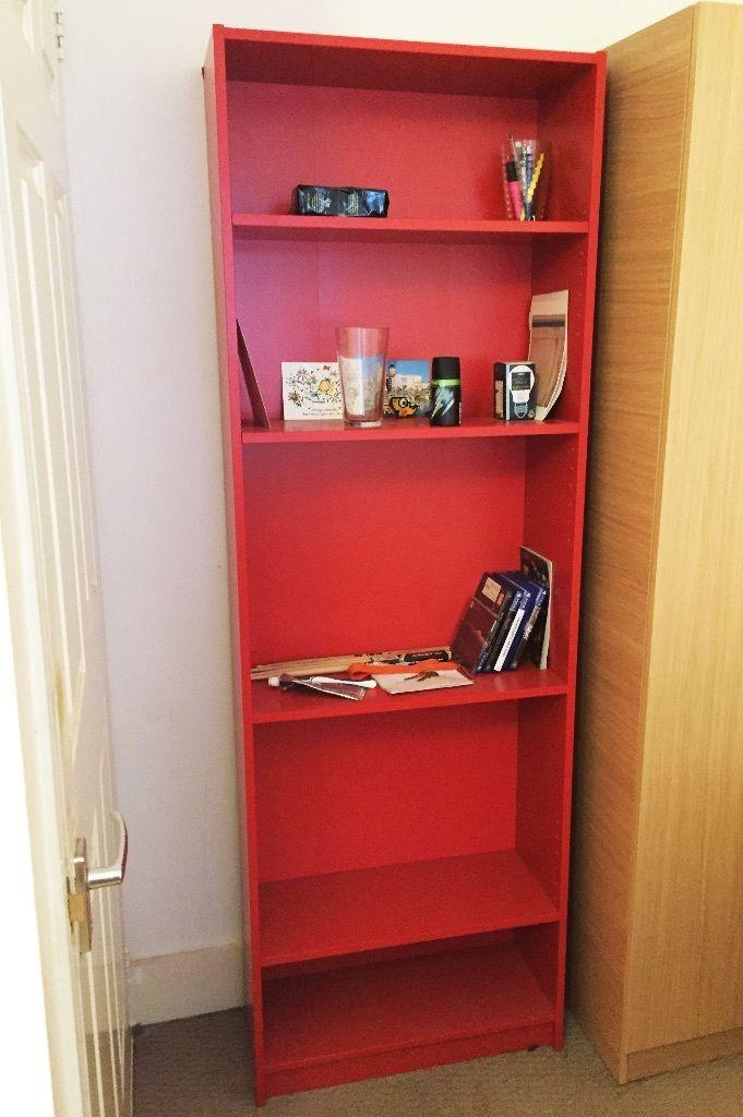 finnby bookcase red 1