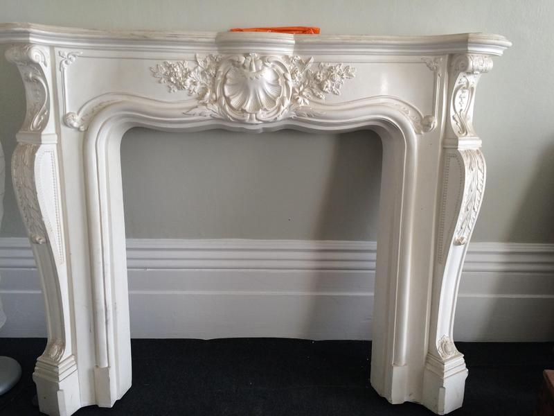 Fireplace Design plaster fireplace : Beautiful ornate, moulded plaster, fireplace surround. Excellent ...