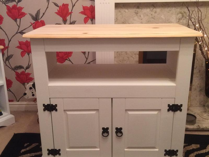 Shabby Chic Pine TV Unit In Chichester - Expired