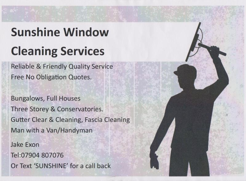 Sunshine Window Cleaning Gutter Clearing Local Window