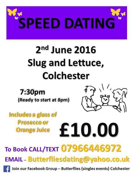 Speed dating essex 2016