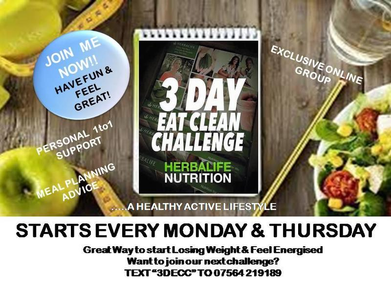HERBALIFE: 3 Day Eat Clean Challenge - Dewsbury - Expired | Friday-Ad