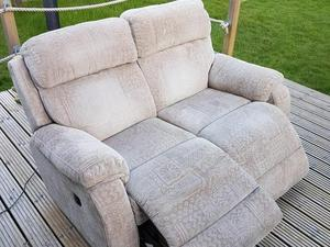 Dfs Daytona Curved Manual Double Recliner Sofa With Foot