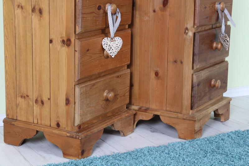 solid pine bedroom furniture set waxed finish light