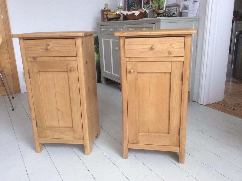 Pair of Dutch 19th century pine bedside tables in Mayfield - Expired |  Friday-Ad - Antique Pine Bedside Cabinets Antique Furniture