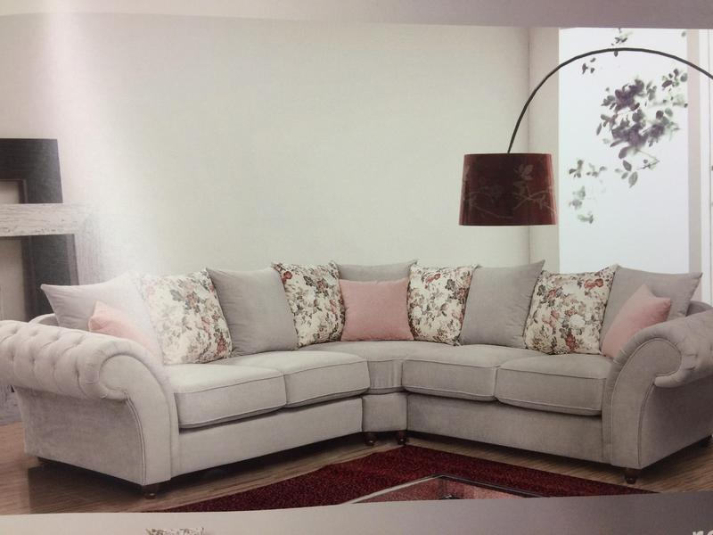 Shabby Chic Corner Chesterfield Style Sofa in Merthyr Tydfil
